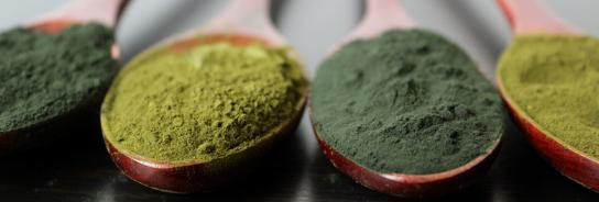 Grøn pulver