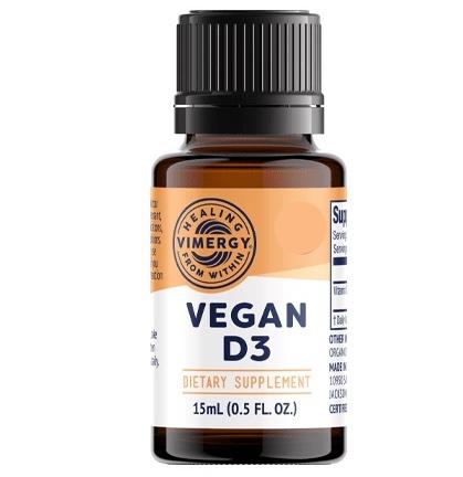 Vimergy Nestemäinen vegaaneille sopiva D3-vitamiini 1
