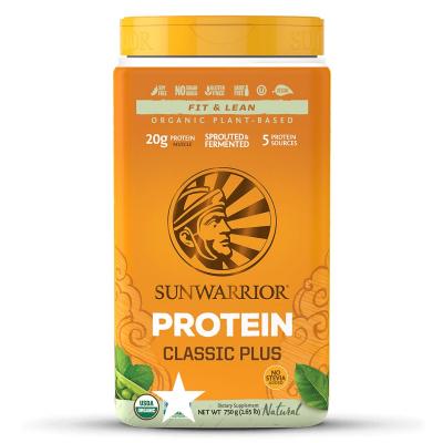 SunWarrior Classic PLUS Växtprotein Naturell 750g 1