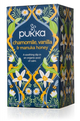 Pukka te Chamomile, Vanilla & Manuka 1
