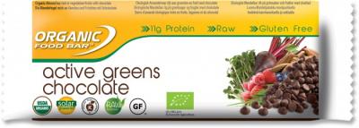 Organic Food Bars Active Greens Chocolate 68g 1
