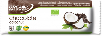Organic Food Bars Chocolate Coconut 50g 1