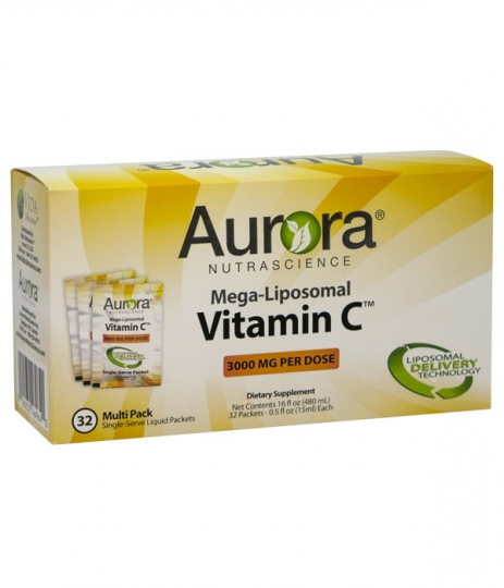 Aurora Mega-Liposomal C-vitamin i doseringspåsar