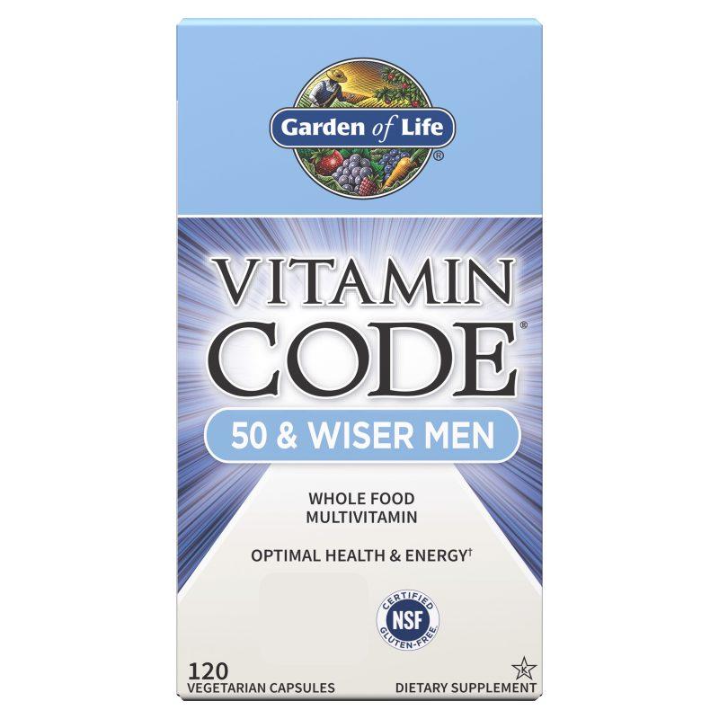 Vitamin Code 50 and Wiser Men Multivitamin 120 kapslar 1