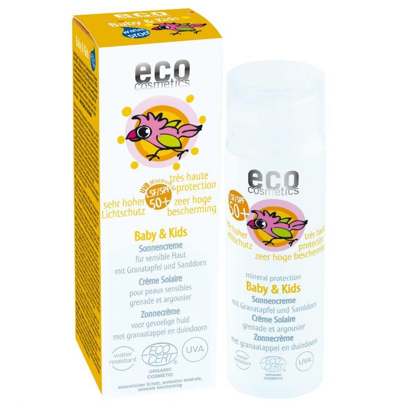 Eco Cosmetics Ekologisk Solkräm för barn SPF 50 1
