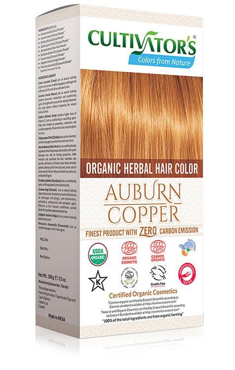 Cultivator's - Ekologisk Hårfärg Auburn Copper, 100 g 1
