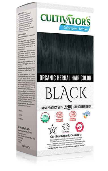 Cultivator's - Ekologisk Hårfärg Black, 100 g 1