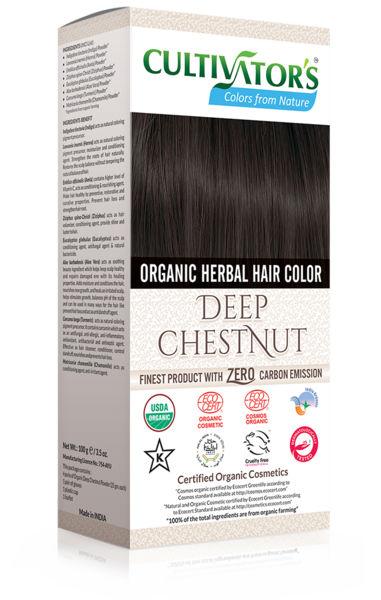 Cultivator's - Ekologisk Hårfärg Deep Chestnut, 100 g 1