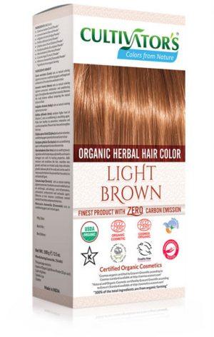 Ekologisk Hårfärg Light Brown, 100 g