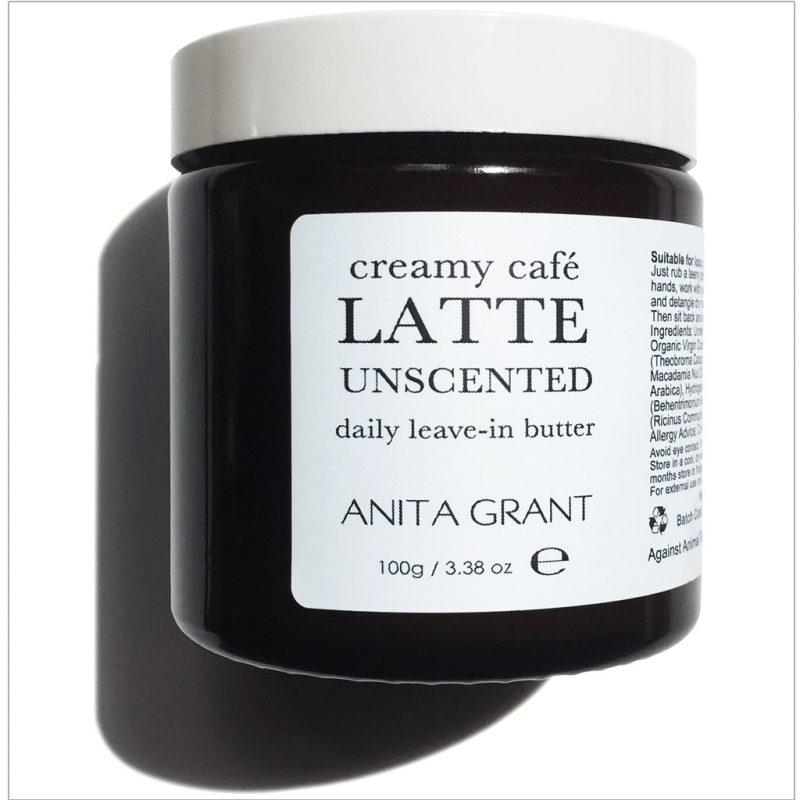 Anita Grant Creamy Café Latte Leave-in Detangle Conditioner Unscented 100g