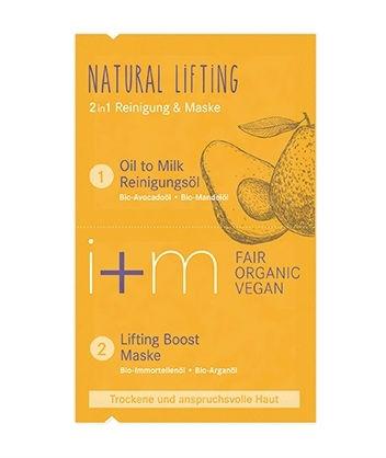 i+m - Natural Lifting 2in1 Mask Avocado Argan, 2x4 ml 1