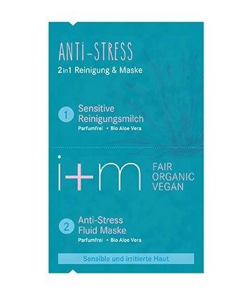 i+m - Anti Stress 2in1 Mask Parfymfri, 2x4 ml 1