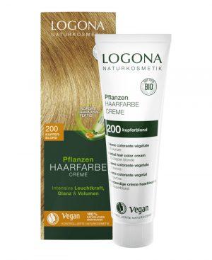 Ekologisk Hårfärg Color Creme 200 Kopparblond, 150 ml