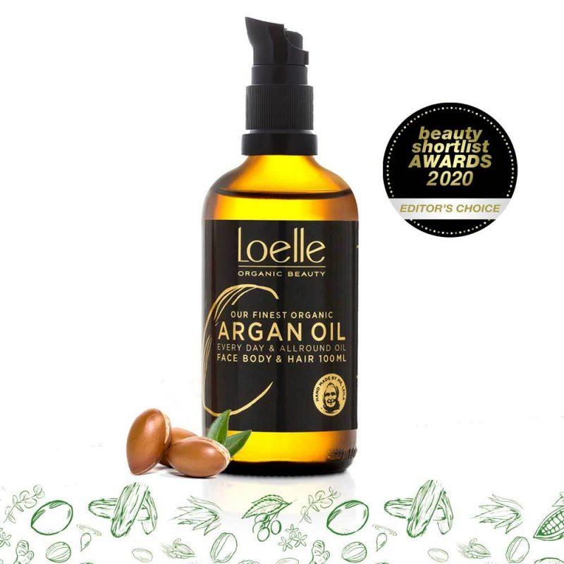 Loelle - Arganolja Ekologisk Kallpressad med Pump, 100 ml 1