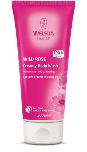 Wild Rose Creamy Body Wash för torr hud, 200 ml