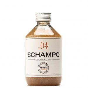 Schampo Nr 04 Magisk Citrus för Fett hår / Fint Hår / Detox / Hårbottenvård