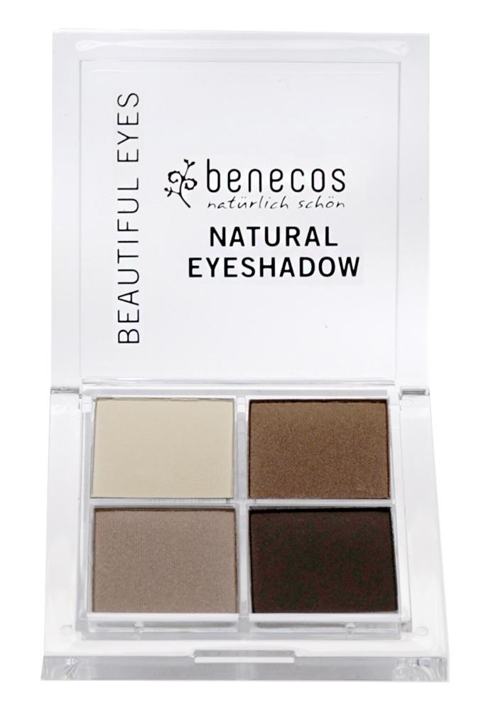 Benecos - Natural Quattro Eyeshadow - Coffee & Cream, 8 g 1