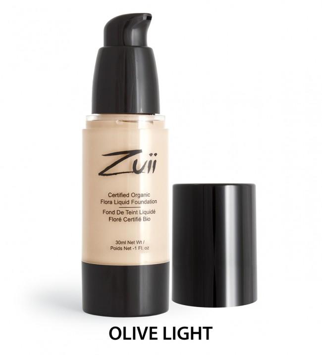 Zuii Organic - Certified Organic Flora Liquid Foundation - Olive Light, 30 ml 1