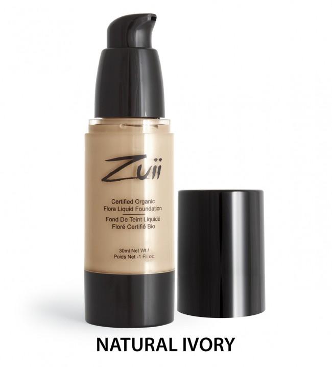 Zuii Organic - Certified Organic Flora Liquid Foundation - Natural Ivory, 30 ml 1