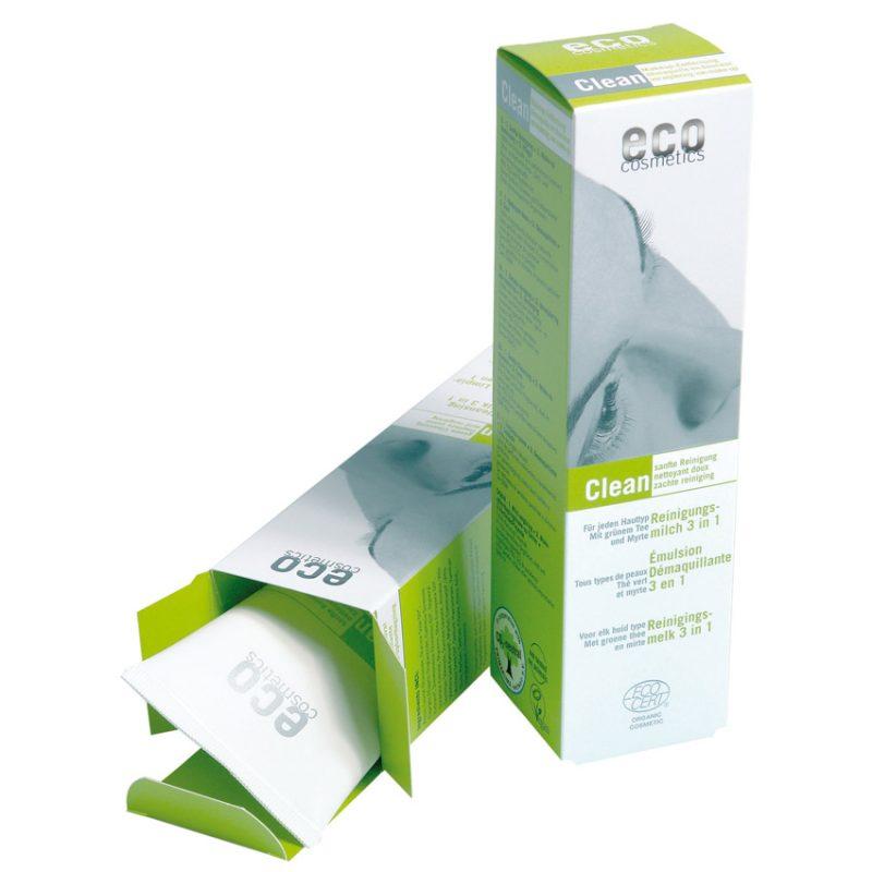 Eco Cosmetics - Rengöringsmjölk 3 i 1 med Grönt Te, 125 ml 1