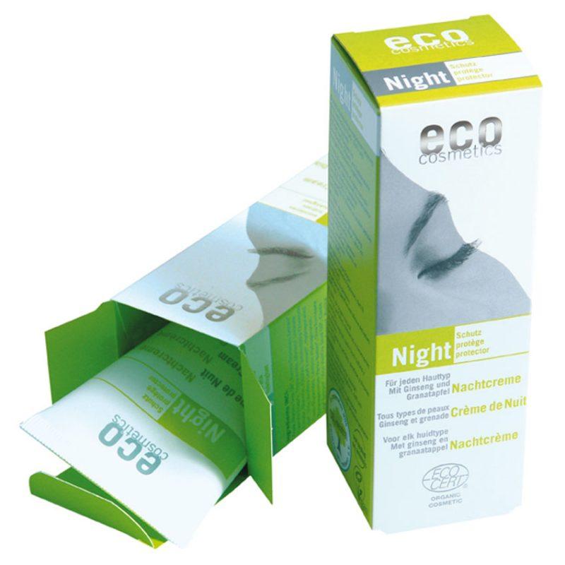 Eco Cosmetics - Nattkräm med Ginseng & Granatäpple, 50 ml 1