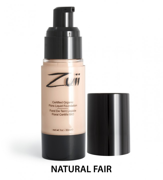 Zuii Organic - Certified Organic Flora Liquid Foundation - Natural Fair, 30 ml 1