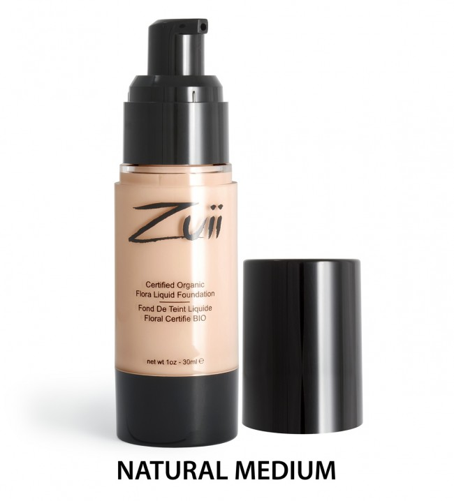 Zuii Organic - Certified Organic Flora Liquid Foundation - Natural Medium, 30 ml 1