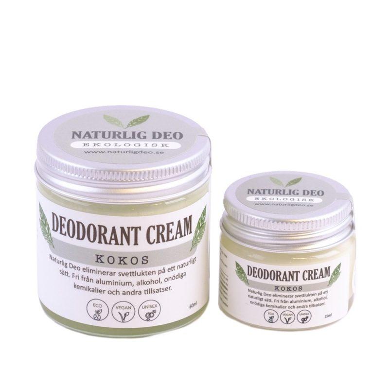 Naturlig Deo -  Ekologisk Deodorantkräm Kokos 1