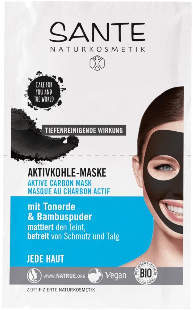 Sante - Ansiktsmask med Aktivt kol, 2x4 ml 1