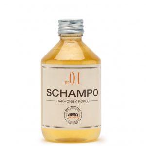 Schampo Nr 01 Harmonisk Kokos för Alla Hårtyper / Torr Hårbotten