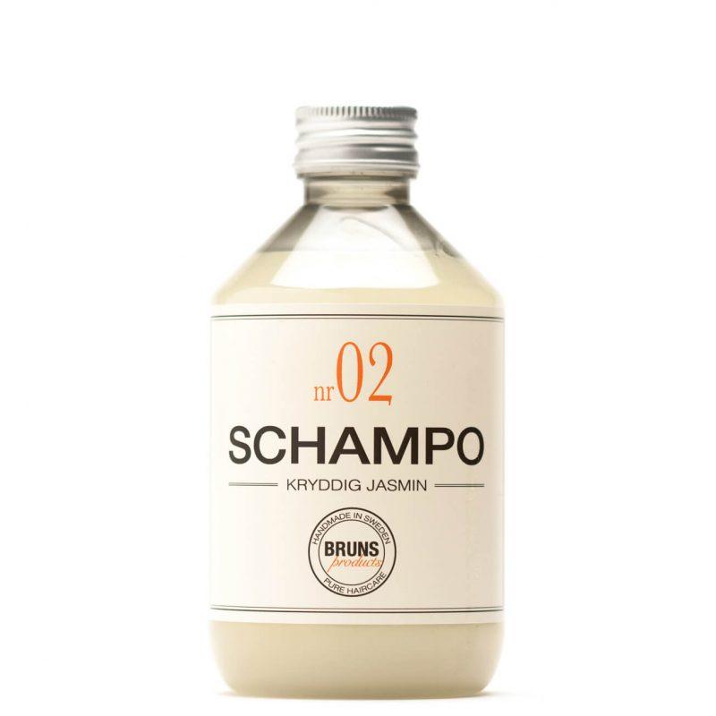 Schampo Nr 02 Kryddig Jasmin för Torrt hår / Tjockt & Lockigt hår