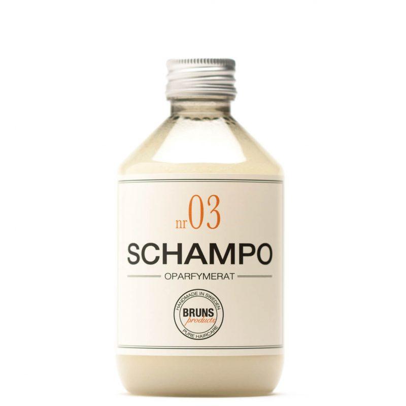 Bruns Products - Schampo Nr 03 Oparfymerat för Irriterad Hårbotten / Normalt Hår / Barn 1