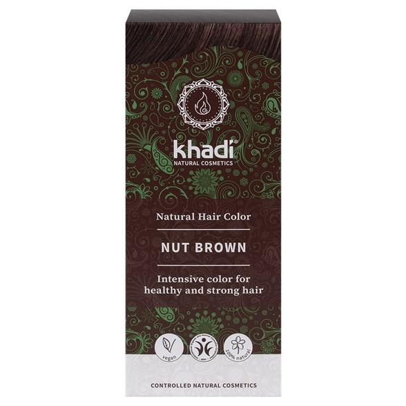 Khadi - Naturlig Örthårfärg Natural Hazel - Nötbrun, 100 g 1