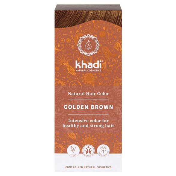Khadi - Naturlig Örthårfärg - Golden Brown - Gyllenbrun, 100 g 1