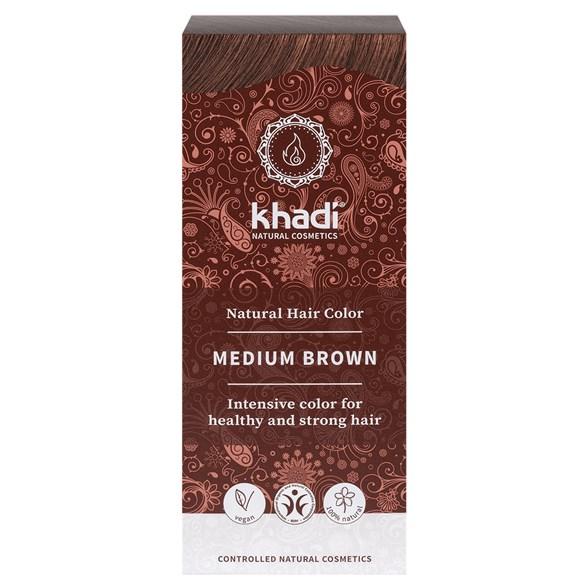 Khadi - Naturlig Örthårfärg - Medium Brown - Mellanbrun, 100 g 1