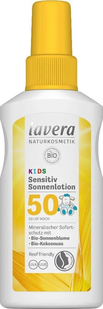 Lavera KIDS Sensitive Sun Spray SPF50 1