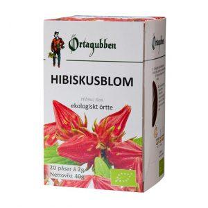 Ekologisk Hibiskus blomma ört-te 20 påsar