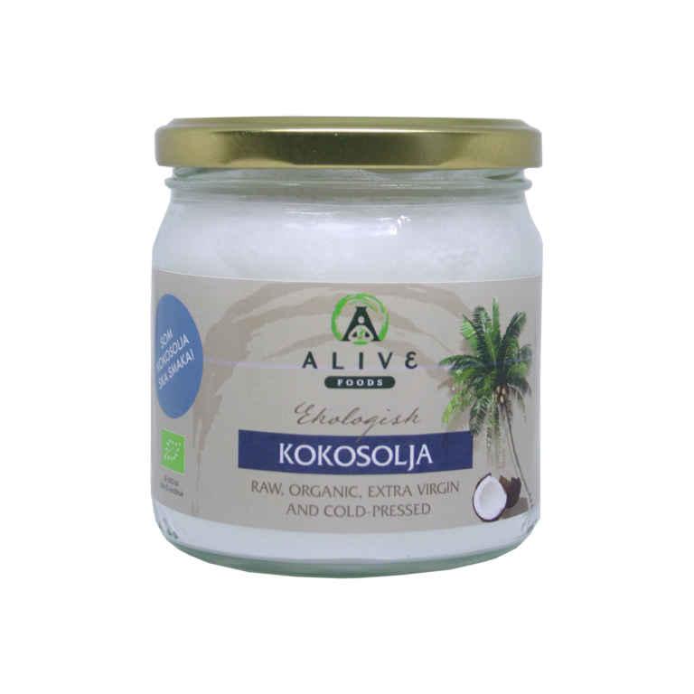 RAW Kallpressad Ekologisk Kokosolja AliveFoods 1