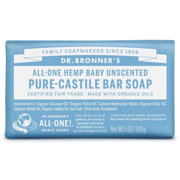 Dr. Bronner's - Bar Soap Baby Mild, 140 g 1