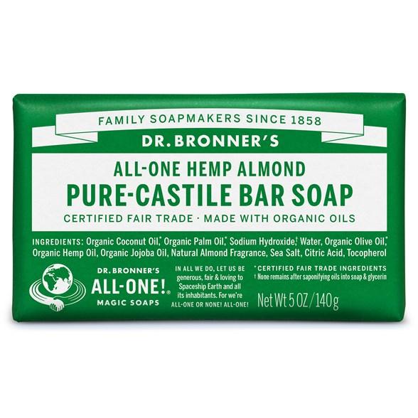 Dr. Bronner's - Bar Soap Almond, 140 g 1