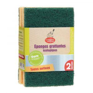 Kökssvamp grov grön 2-pack
