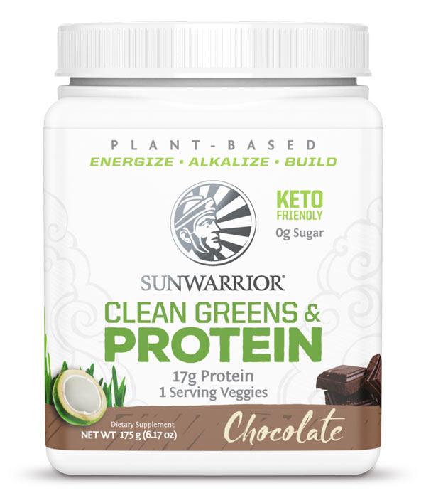 Sunwarrior Clean Greens & Protein Choklad 175 g 1