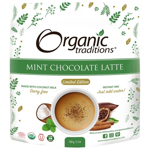 Organic Traditions Mint Chocolate Latte 150g 1