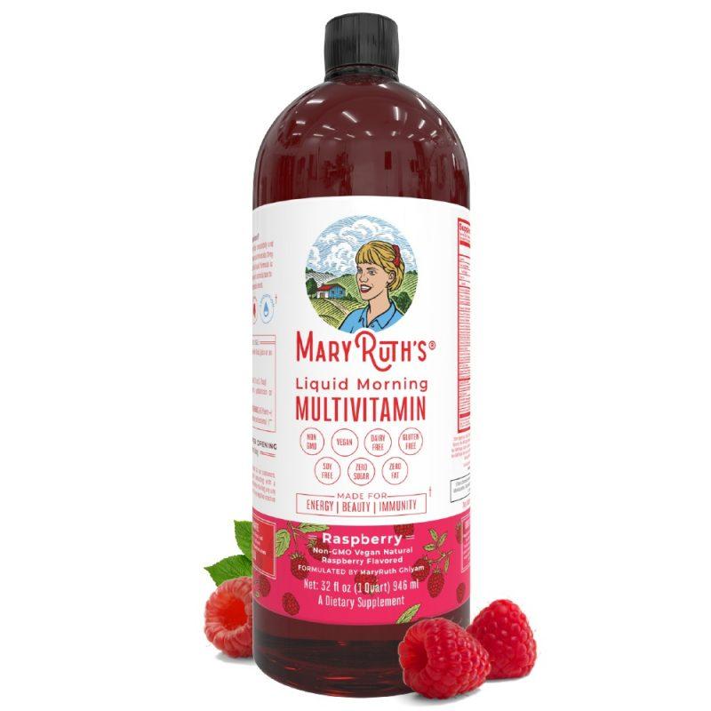 MaryRuth´s Morning Multivitamin Raspberry 1