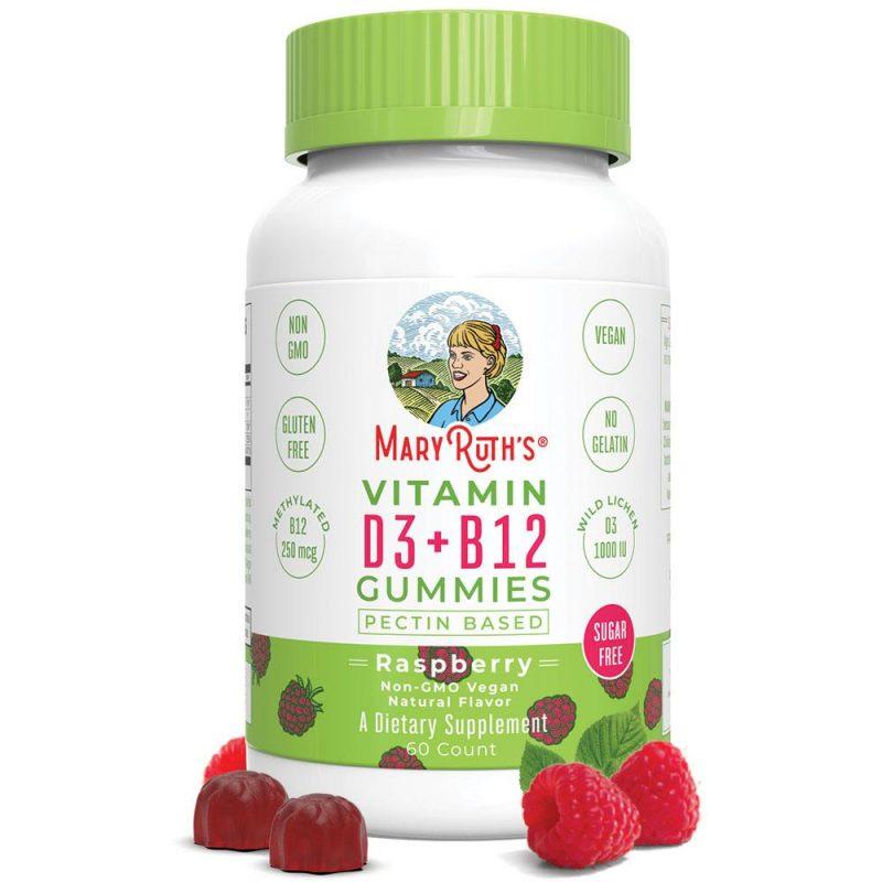 MaryRuth´s D3+B12 Gummies, Raspberry 1