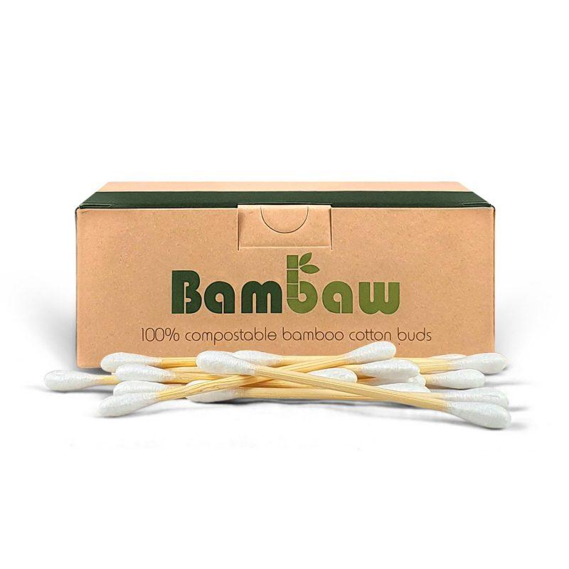 Bambaw - Ekologiska Bomullstops 200 st 1