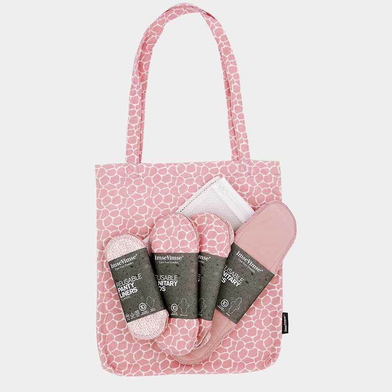 ImseVimse - Startkit Tygbindor Ekologisk Bomull Blossom 12-pack 1