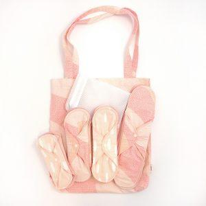 Startkit Tygbindor Ekologisk Bomull Pink Sprinkle 12-pack