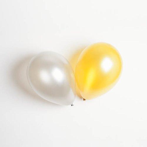 Ballonger i Naturgummi - Silver & Guld, 10 st 1