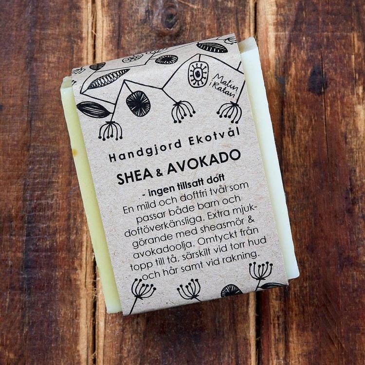 Malin i Ratan Ekologisk Tvål Shea & Avokado Utan Doft, 110 g